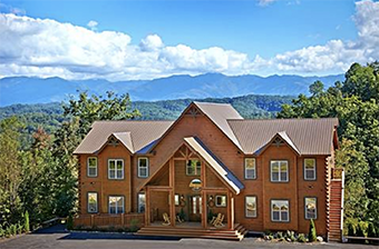 big moose lodge 16  bedroom pet friendly cabin in Gatlinburg by Alpine Chalet Rentals