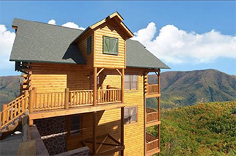 cades cove castle 8 bedroom pet friendly cabin in Gatlinburg by Alpine Chalet Rentals