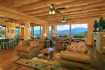 grand view lodge 12  bedroom pet friendly cabin in Gatlinburg by Alpine Chalet Rentals
