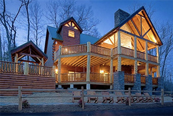 incredible 6 bedroom pet friendly cabin in Gatlinburg by American Patriot Getaways