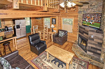 lap of luxury 5 bedroom pet friendly cabin in Gatlinburg by Amazing Views Cabin Rentals