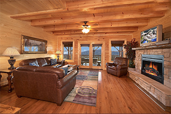 mountain breeze manor 12  bedroom pet friendly cabin in Gatlinburg by Hearthside Cabin Rentals