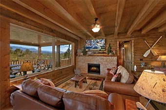 Mountain Top Retreat 8 bedroom pet friendly cabin Sevierville by Hearthside Cabin Rentals