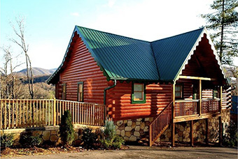 point of view 4 bedroom pet friendly cabin in Gatlinburg by Diamond Mountain Rentals