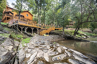 river adventure lodge 6 bedroom pet friendly cabin in Gatlinburg by Stony Brook Lodging