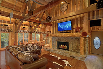 river mist lodge 7 bedroom pet friendly cabin Sevierville by Cabins USA