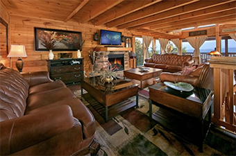 the majetic 8 bedroom pet friendly cabin in Gatlinburg by Amazing View Cabin Rentals